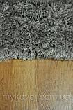 Килим высоковорсный сірого, алюмінієвого кольору, фото 4