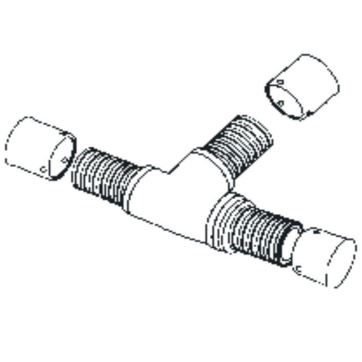 Планка настінна з крпленням, 2 контури