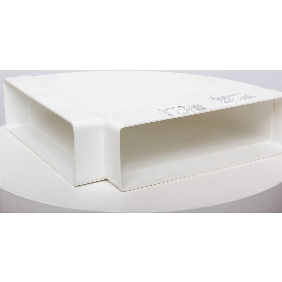 Колено горизонтальное Пластивент, 204x60 мм