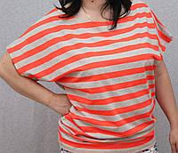 Большие футболки женские оранж