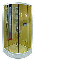 Душевая кабина RONDO 101T, 90x90 см, прозрачная, профиль белый