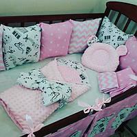 Бортики- защита в кроватку