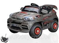 Детский электромобиль BMW X8 на резиновых колесах, СЕРЫЙ, купить оптом