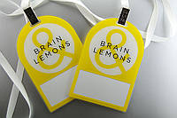 "Бейджи на ленте ""Brain lemons"", фото 1"