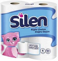 Туалетная бумага, целлюлоза. 2 слоя. Silen., 32 штуки.