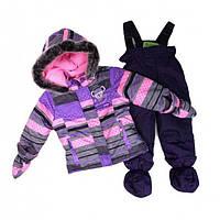 Зимний термокостюм для девочки 1-3 лет, р. 80-98 ТМ Peluche&Tartine 40 BF M F16 Lavander