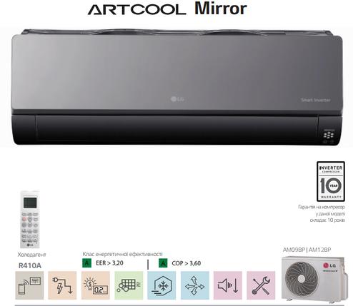Сплит-система настенного типа LG AM09BP.NSJRO/AM09BP.UA3RO, фото 2
