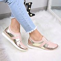 Кроссовки женские NJ Rose кожа 3513, обувь дропшиппинг
