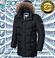 Куртка длинная мужская Braggart - 4126#4127 черный