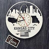 Концептуальные настенные часы «Канзас-Сити, Миссури»