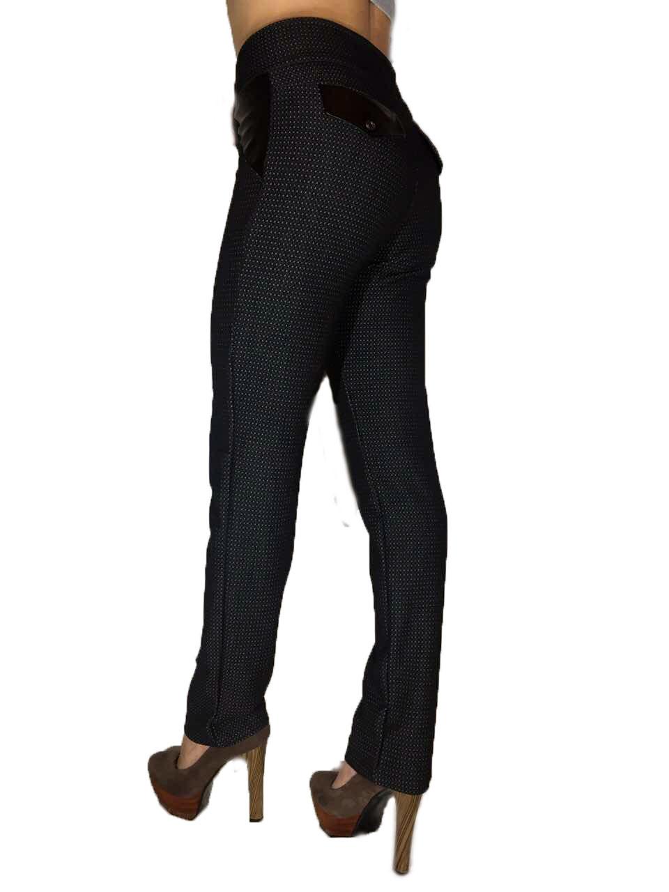 Женские классические брюки жаккард черные