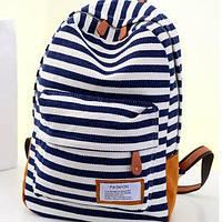 Стильный молодежный рюкзак в полоску