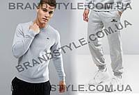 Спортивный костюм  LACOSTE  серый