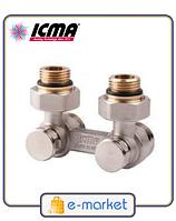 Icma Двухтрубный вентиль для панельного радиатора со встроенной термостатической группой. Арт. 884
