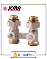 Icma Двухтрубный вентиль для панельного радиатора со встроенной термостатической группой. Арт. 912