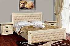 Кровать двуспальная деревянная с мягким изголовьем Freedom (Фридом) Микс мебель, фото 3