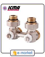 Icma Двухтрубный вентиль для панельного радиатора со встроенной термостатической группой. Арт. 913
