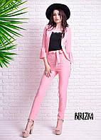 Костюм женский стильный пиджак и брюки креп-костюмка в разных цветах Db601
