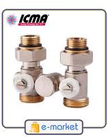 Icma Однотрубный вентиль для панельного радиатора со встроенной термостатической группой. Арт. 902