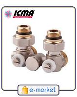 Icma Однотрубный вентиль для панельного радиатора со встроенной термостатической группой. Арт. 903