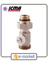 Icma Простой вентиль для панельного радиатора со встроенной термостатической группой. Арт. 916