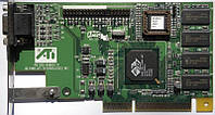 БУ Видеокарта AGP ATI RAGE PRO TURBO, 8MB, VGA (109-49800-10)