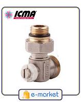 Icma Простой вентиль для панельного радиатора со встроенной термостатической группой. Арт. 917