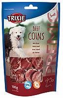 Лакомство Trixie Premio Beef Coins для собак жевательное с говядиной, 100 г, фото 1