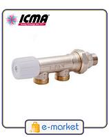 Icma Однотрубный ручной вентиль с боковым управлением. Арт. 856