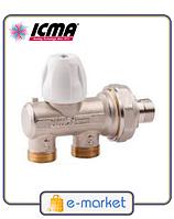 Icma Однотрубный ручной вентиль с фронтальной ручкой. Арт. 886