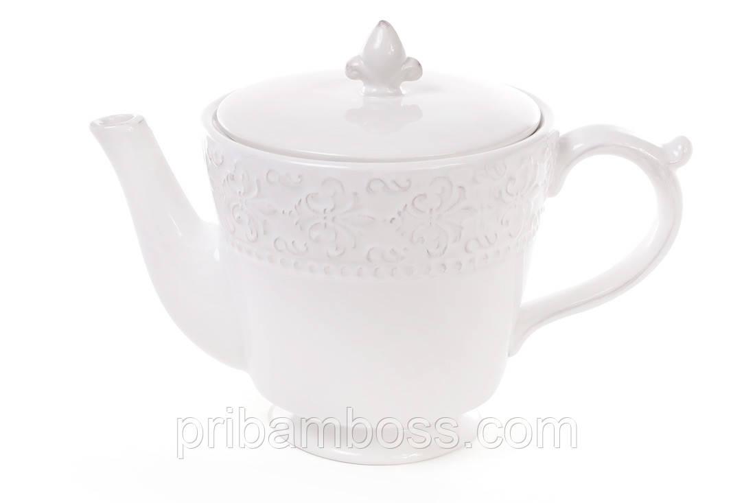 Чайник керамический 900мл, Королевская лилия