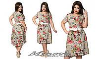 """Платье с цветочным принтом большой размер """"NINA"""" 2P/NR-5323"""