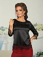 Шелковая Блуза Азалия черная