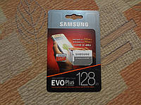 Карта памяти MicroSDXC UHS-I SAMSUNG EVO PLUS128GB НОВАЯ
