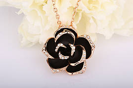 Колье Small Black Rose Swarovski