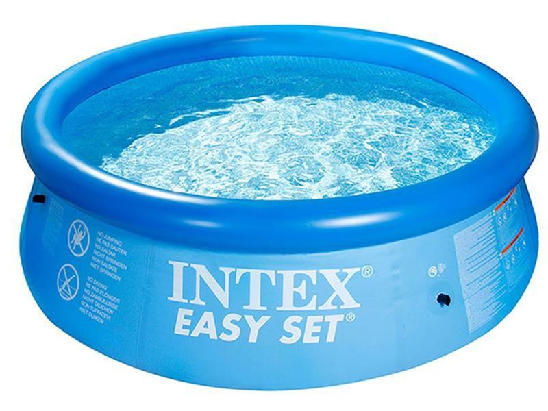 Надувной семейный бассейн 244х76 см Easy Set Intex Басейн круглый