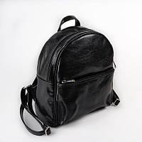 Рюкзак женский М132-Z черный небольшой городской молодежный на молнии
