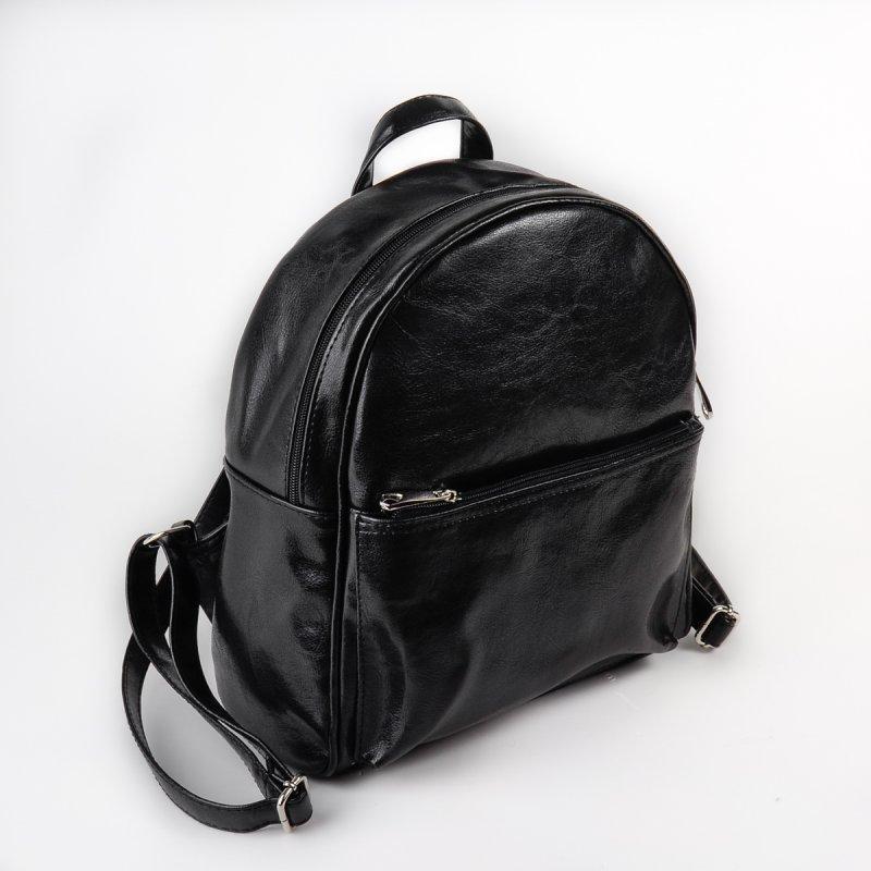 3f4ca1c29c87 Рюкзак женский М132-Z черный небольшой городской молодежный на молнии, фото  1