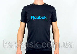 Футболка Reebok black-blue, фото 2
