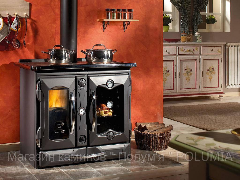 Отопительно-варочная печь с водяным отоплением La Nordica TermoSuprema Компакт DSA Nero