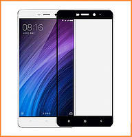 Защитное стекло Utty 3D Full Cover для Xiaomi Redmi 4 Black (Screen Protector 0,3 мм)