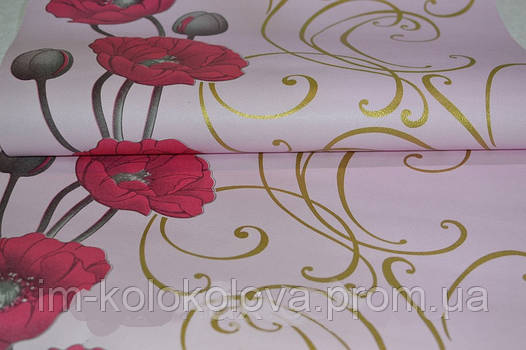 Обои на стену, орхидеи, бумажные, 049-04, 0,53*10м