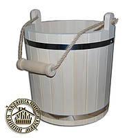 Едро липовое для бани и сауны. Материал: липа, нержавеющая сталь Объем: 10 л Диаметр: мм Высота: 300 мм  Подро
