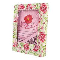 Набор махровых полотенец Роза