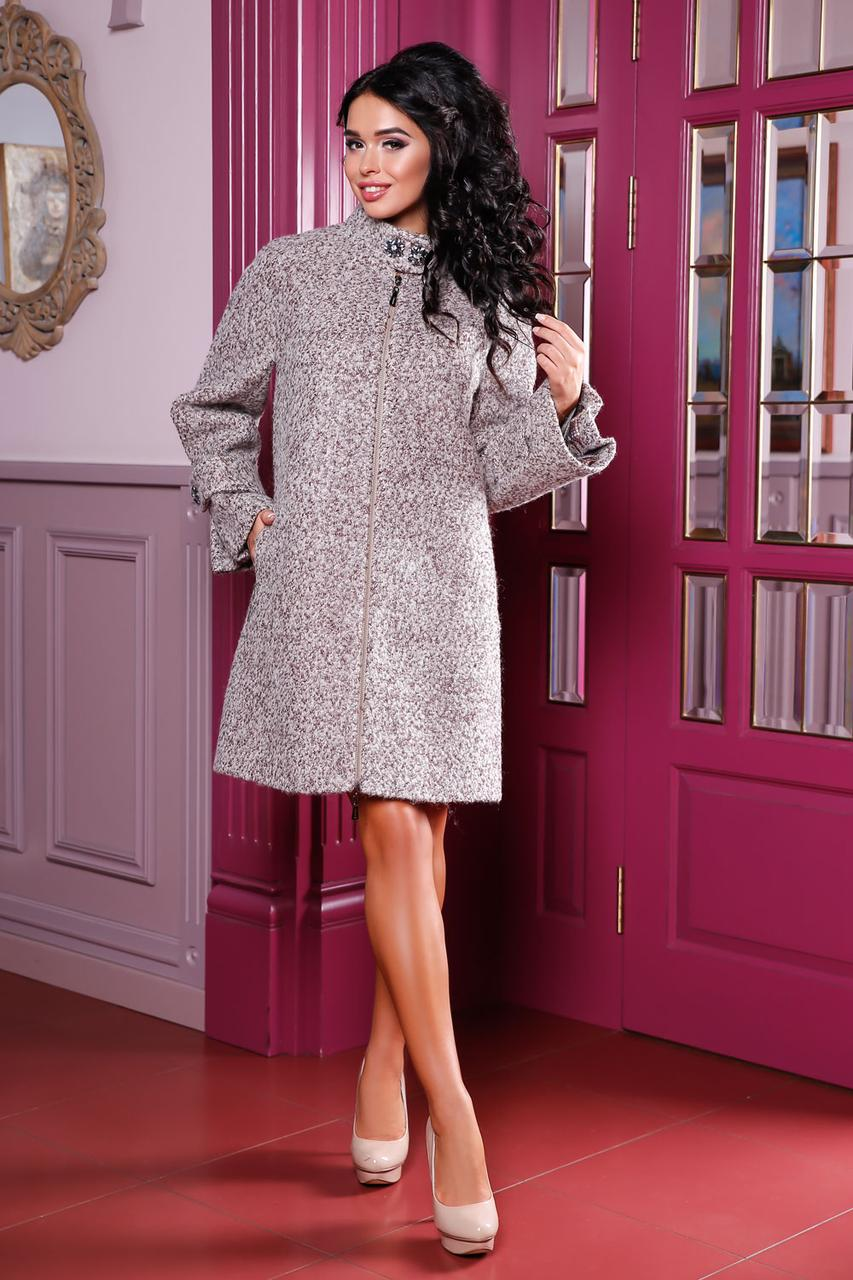 Пальто женское осень-весна большого размера с 44-60 - Shopping-Club в fbf6ae946fae3