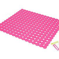 Коврик силиконовый 31х27х0,27см розовый Fissman (AY-7246.SM)