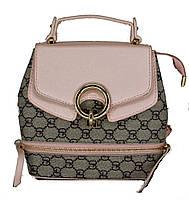 Женская Сумка-рюкзак Арт. 6926 Цвет пудра