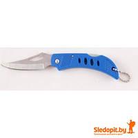 Нож складной с фиксатором+брелок. Качественная сталь клинка.