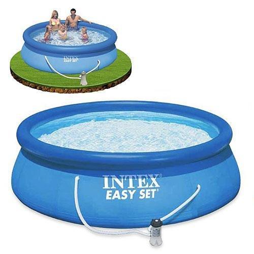 Надувной семейный бассейн Easy Set 305 х 249 х 76 см Intex 28122 Басейн круглый