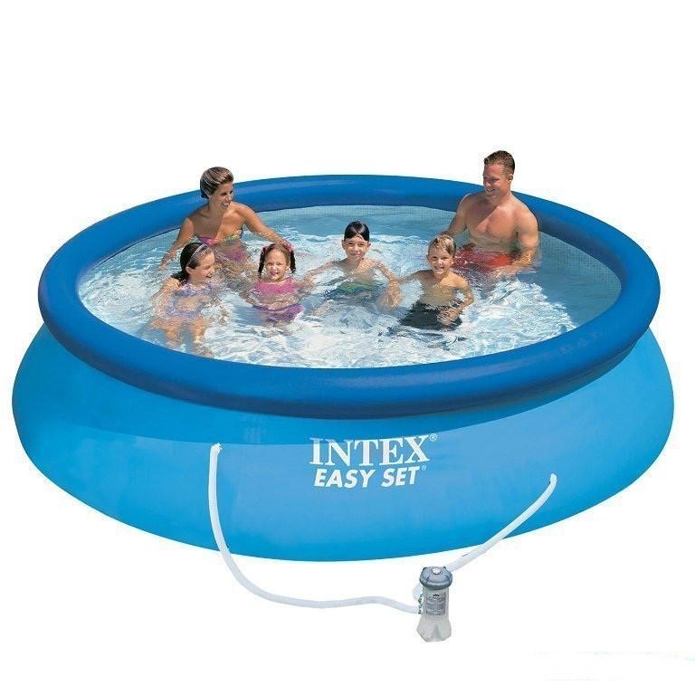 Надувной бассейн басейн Intex Семейный Easy Set 366х76 см круглый